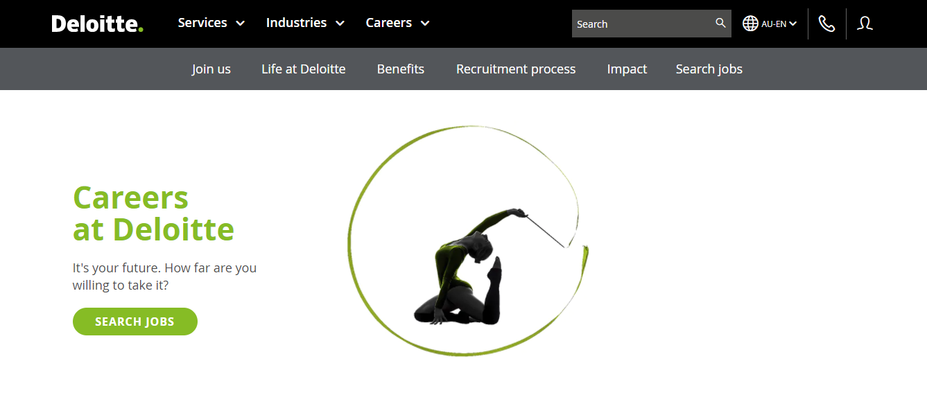 deloitte australia job application step 1