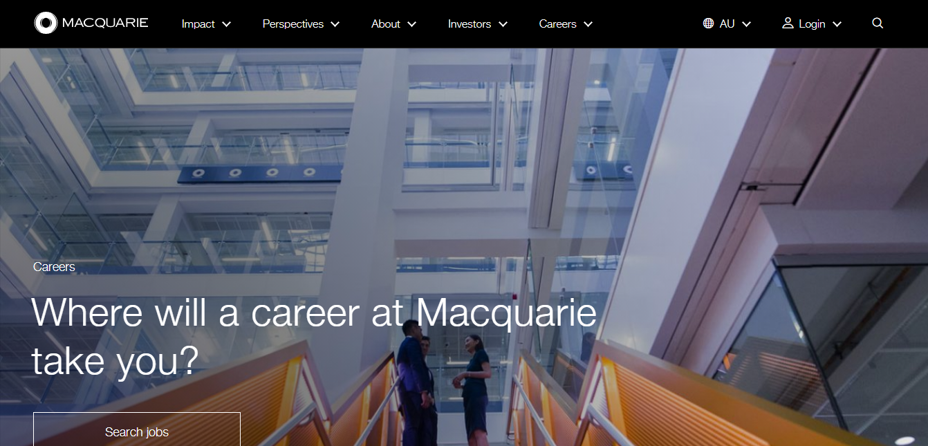 macquarie group job application step 1