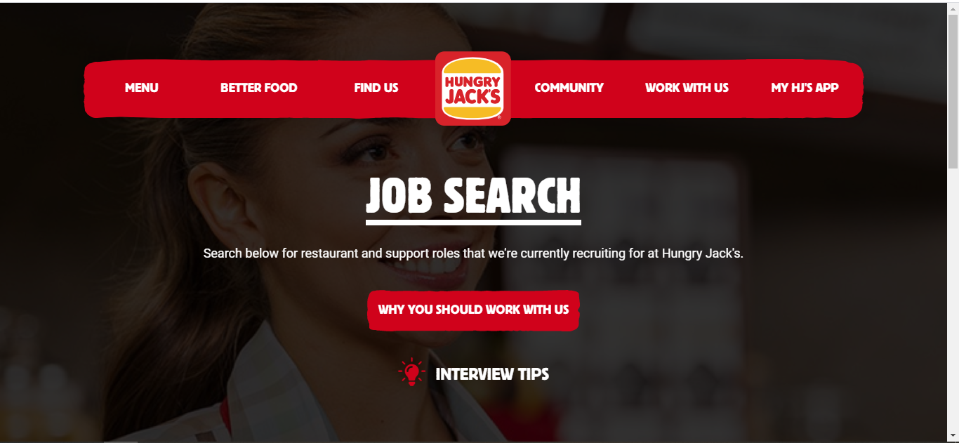hungry jacks job application step 2