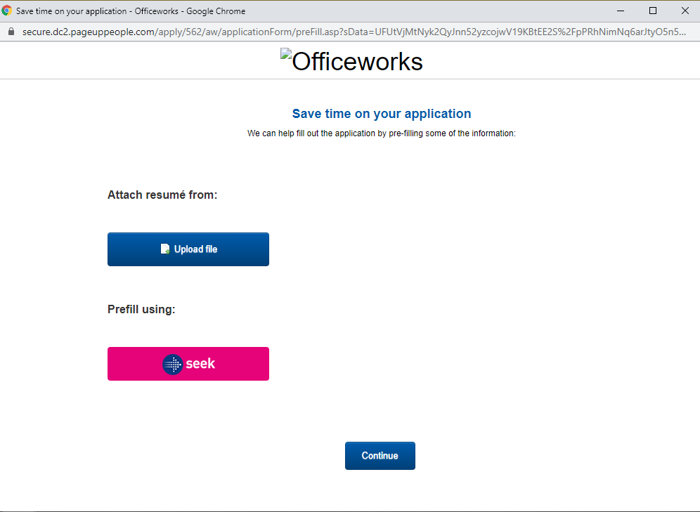 officeworks job application step 4