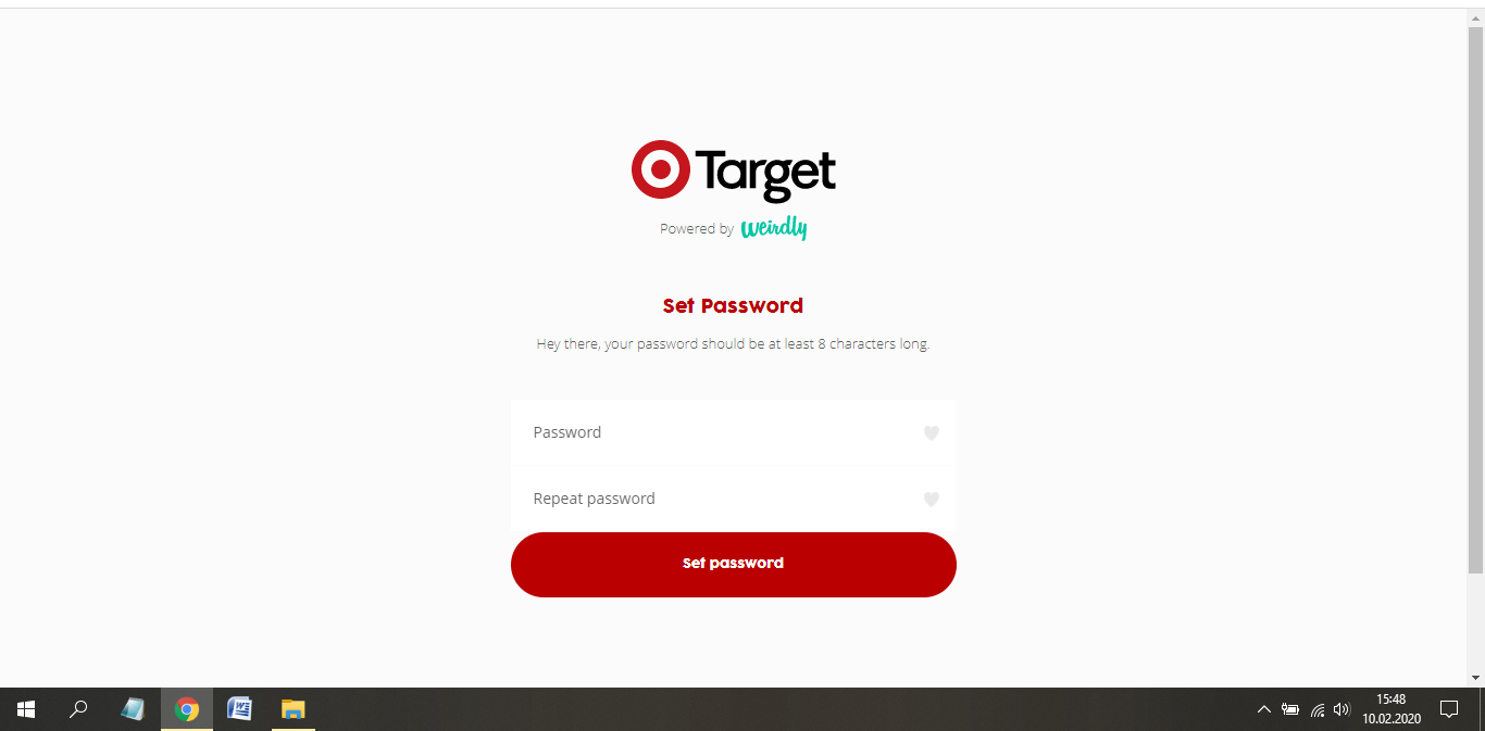 target australia job application step 9
