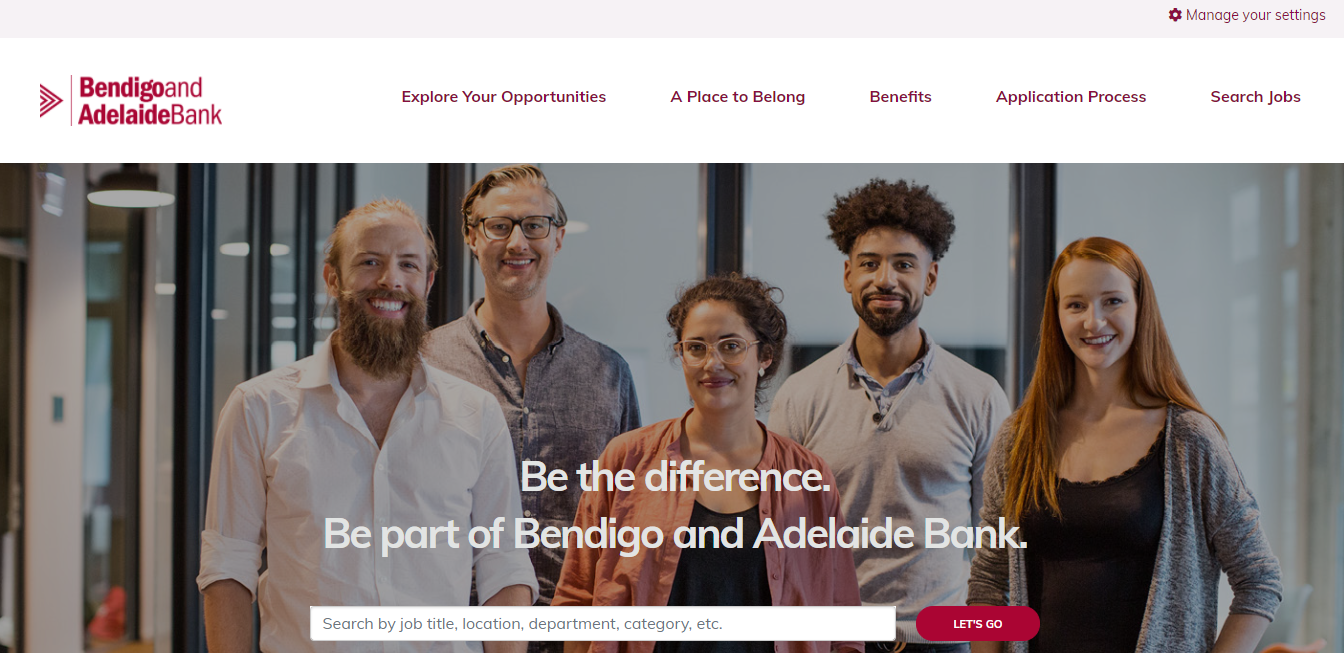 bendigo and adelaide bank job application step 1