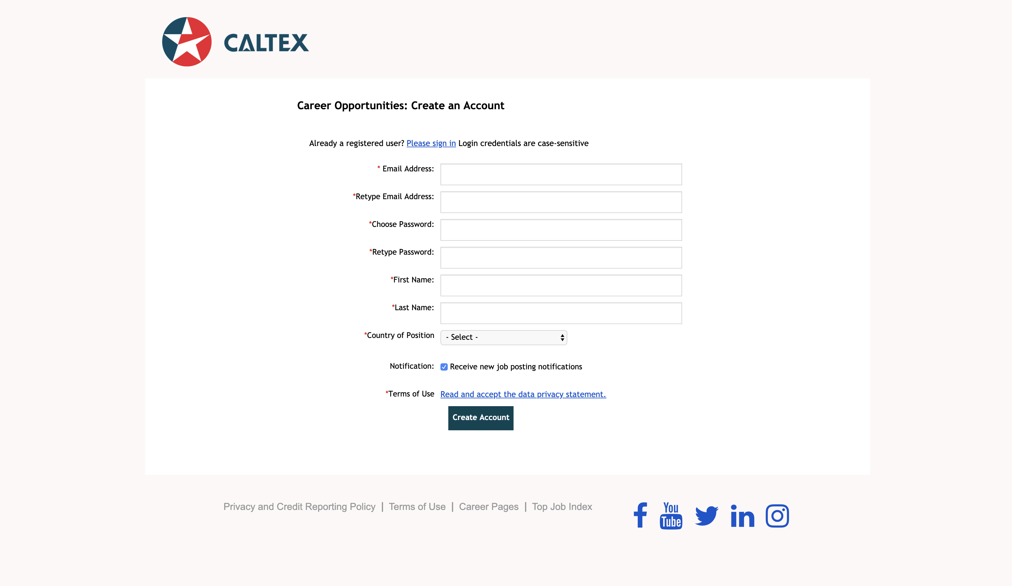caltex woolwoths job application step 4