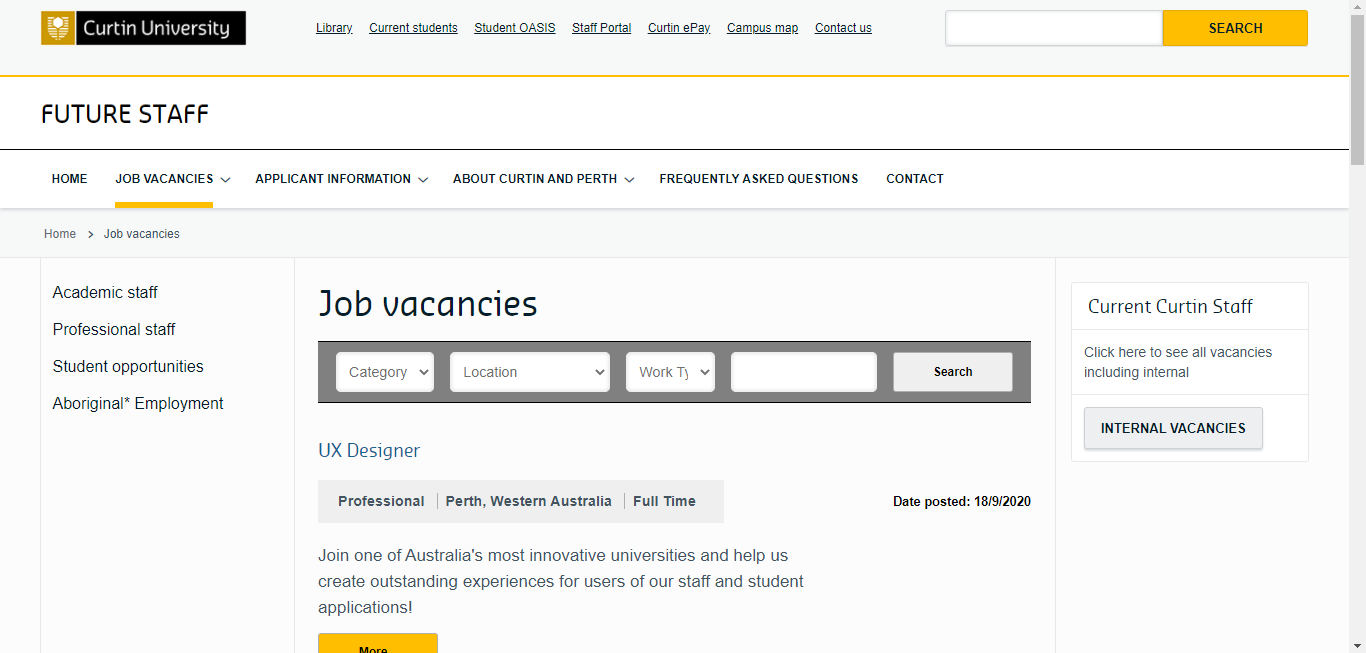 curtin university application step 1