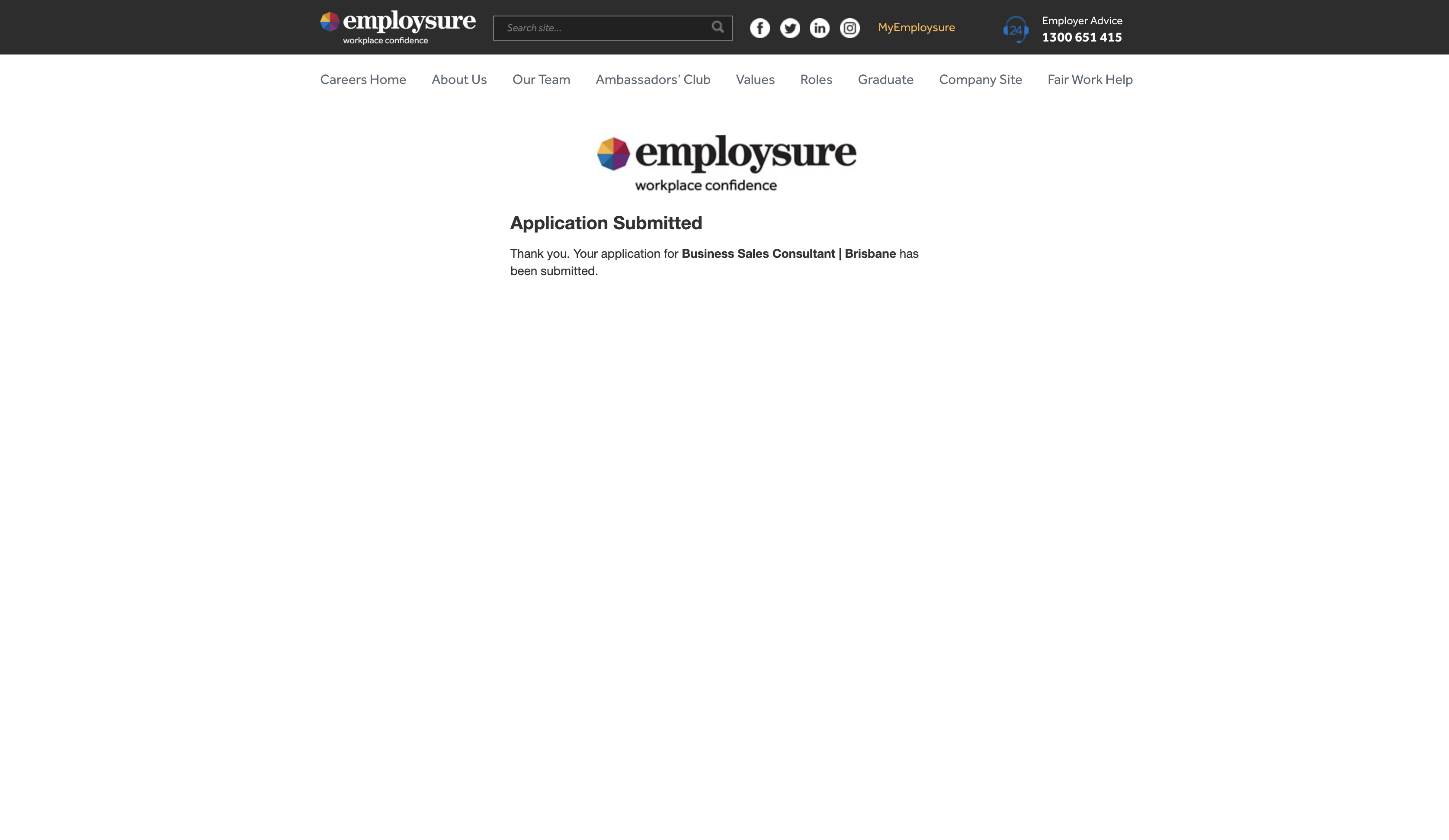 employsure job application step 6