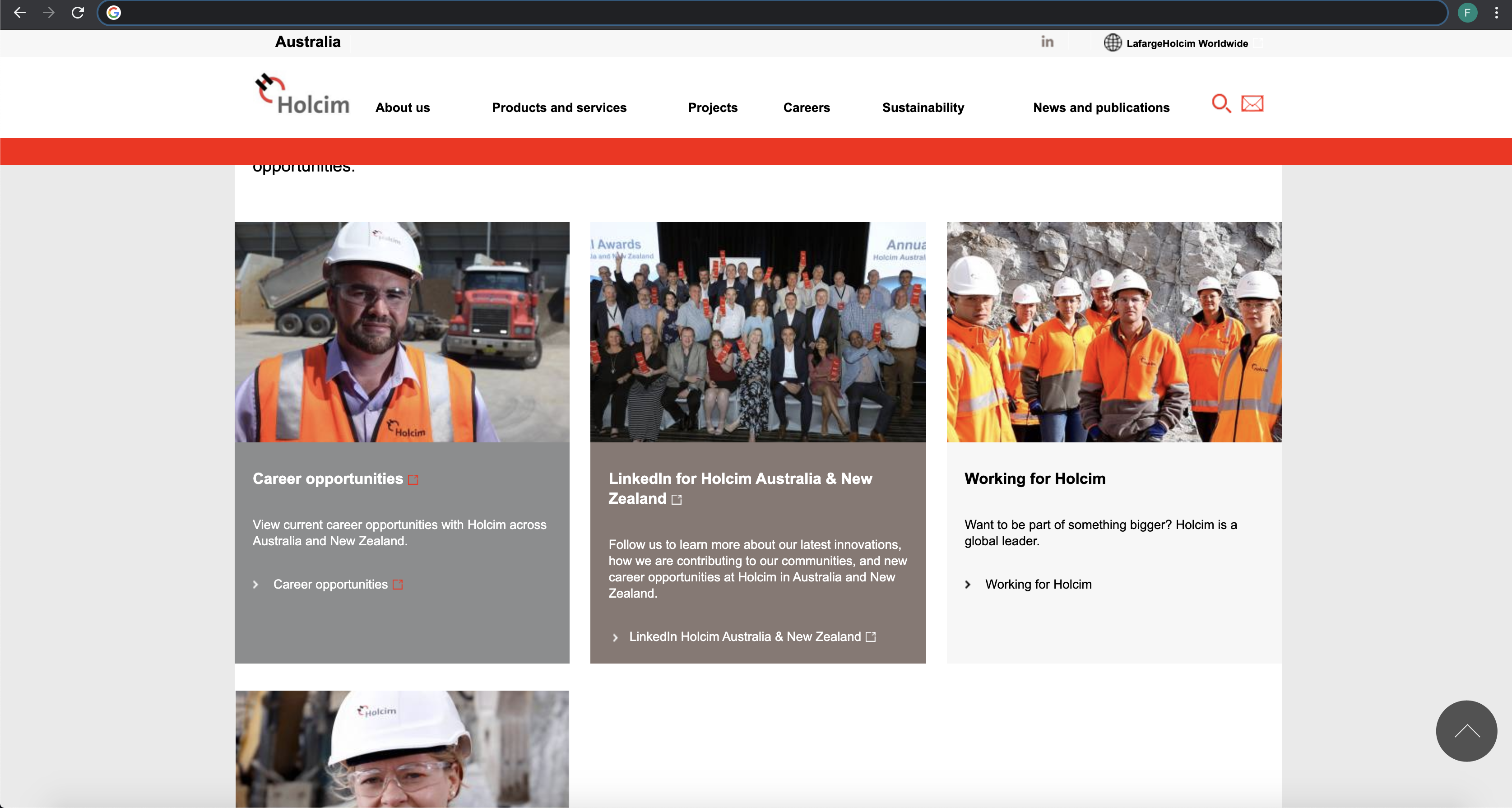 holcim job application step 2