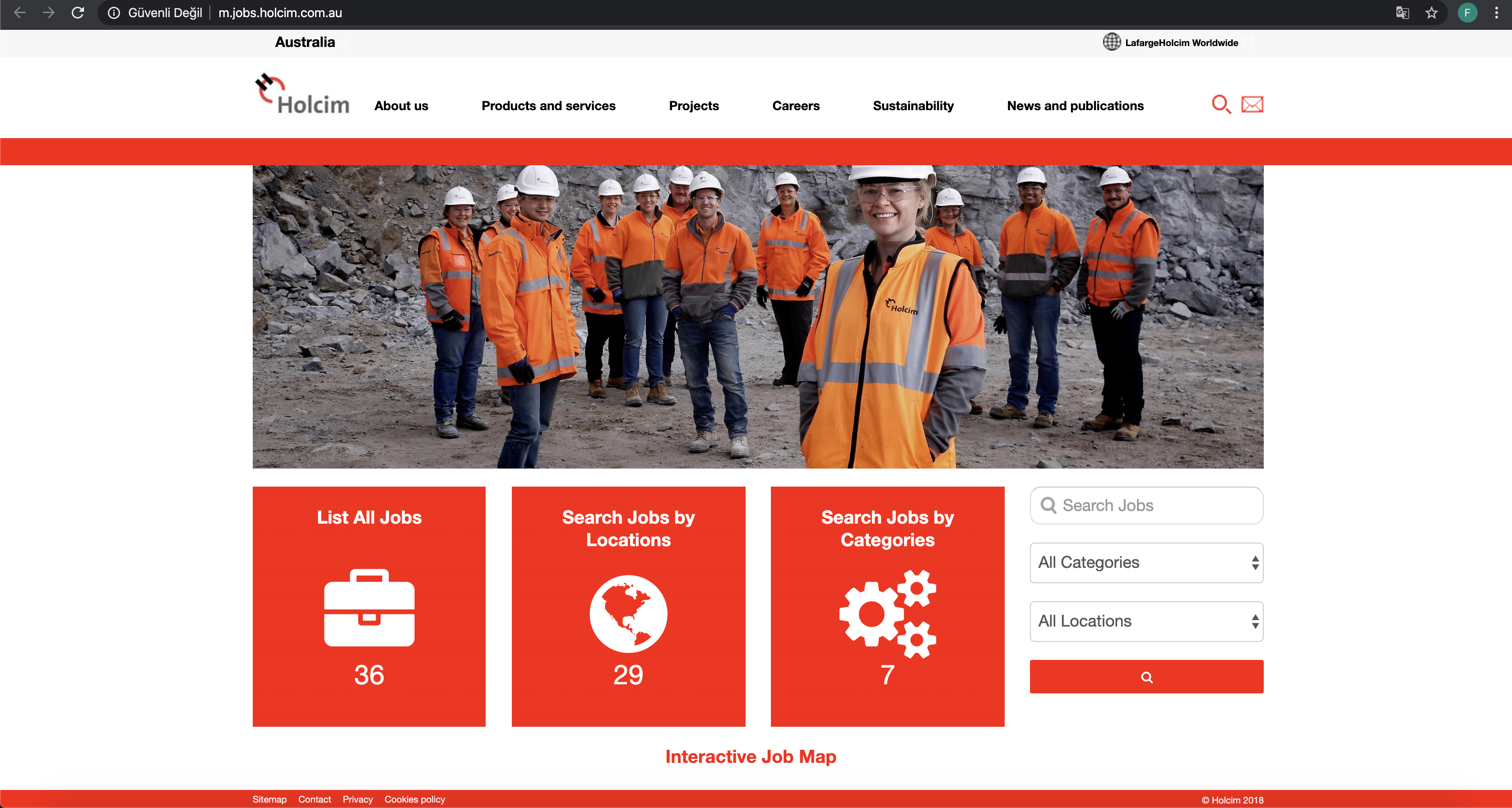 holcim job application step 3