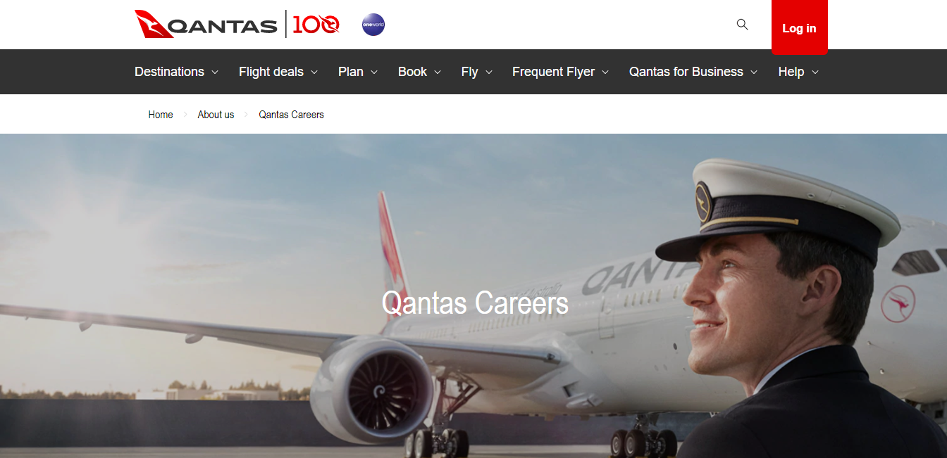 qantas job application step 1