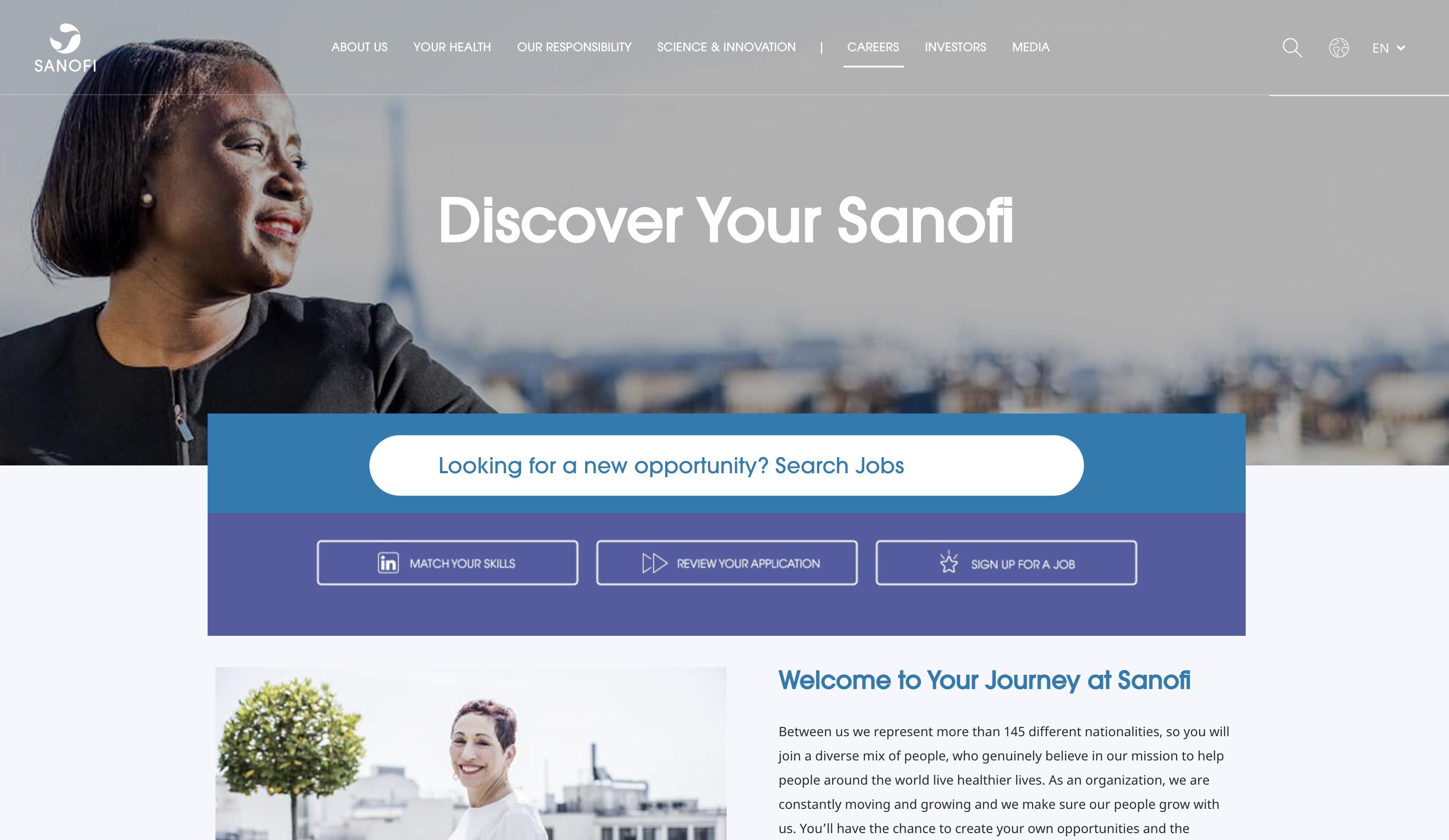sanofi job application step 1