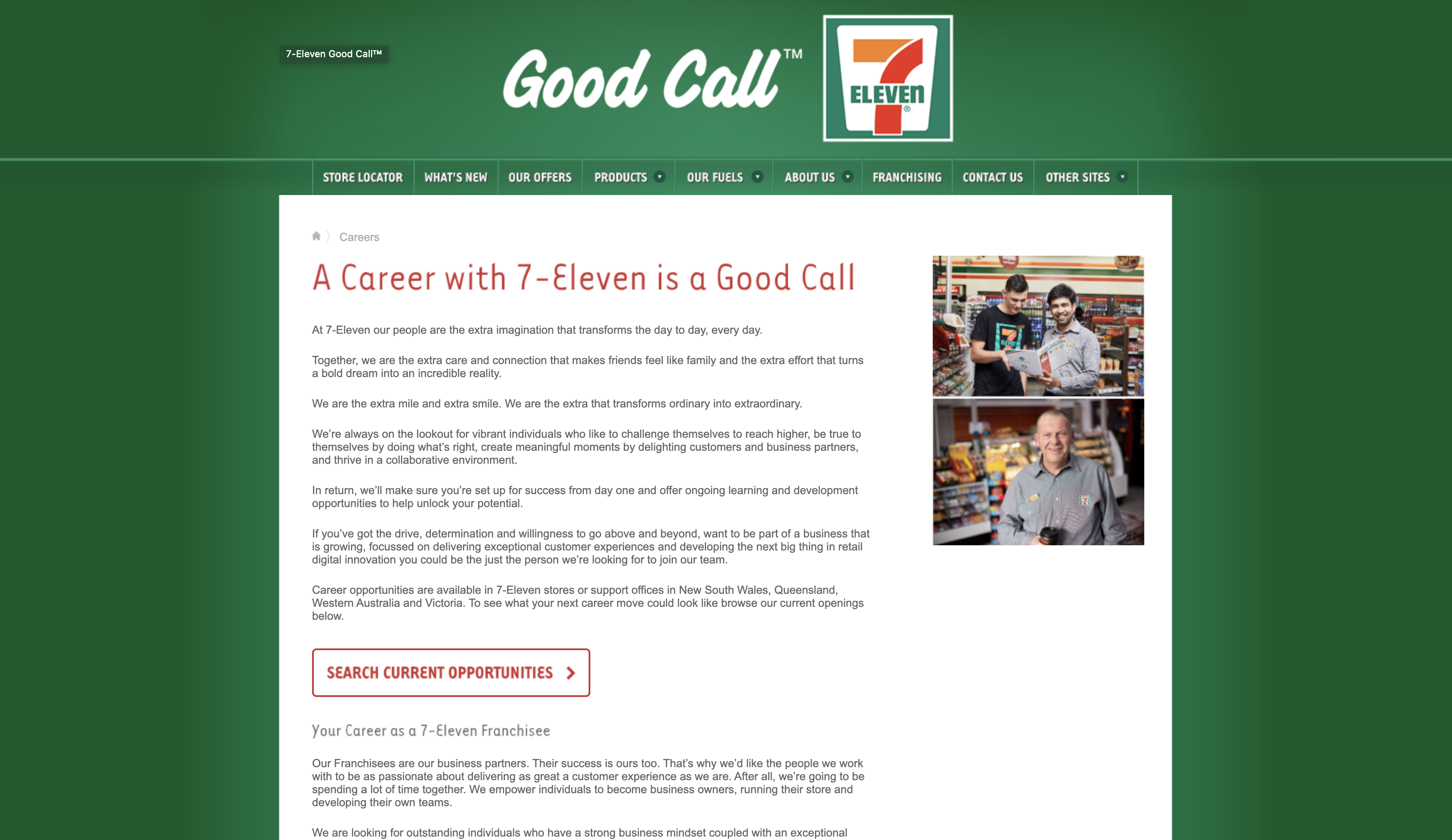 7 eleven job application step 1