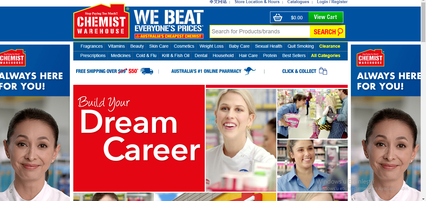 chemist warehouse job application step 1