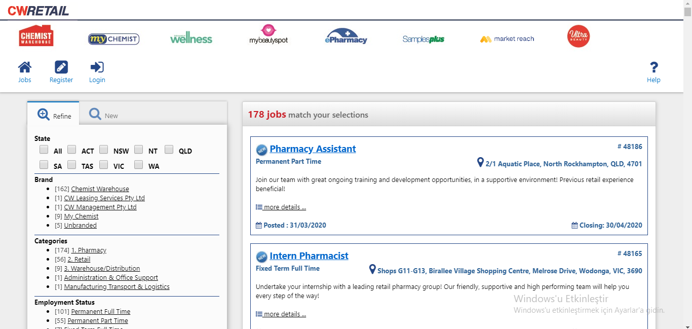 chemist warehouse job application step 2