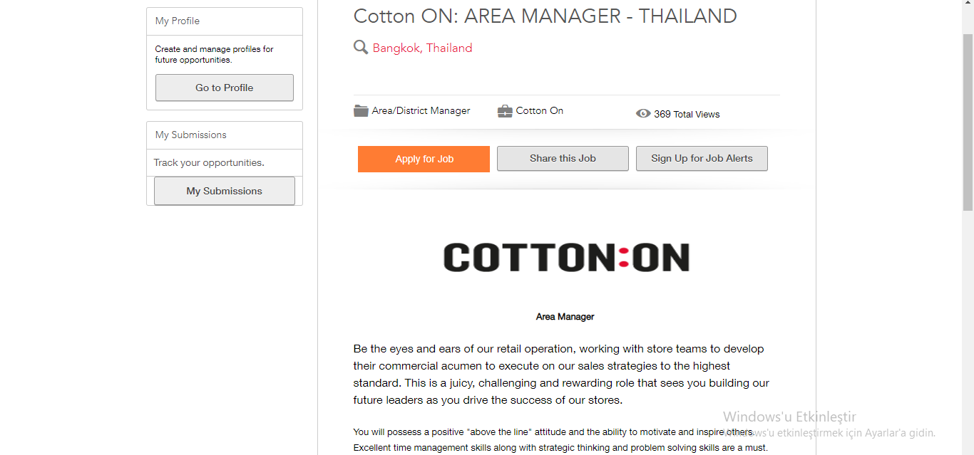 cotton on group job application step 3