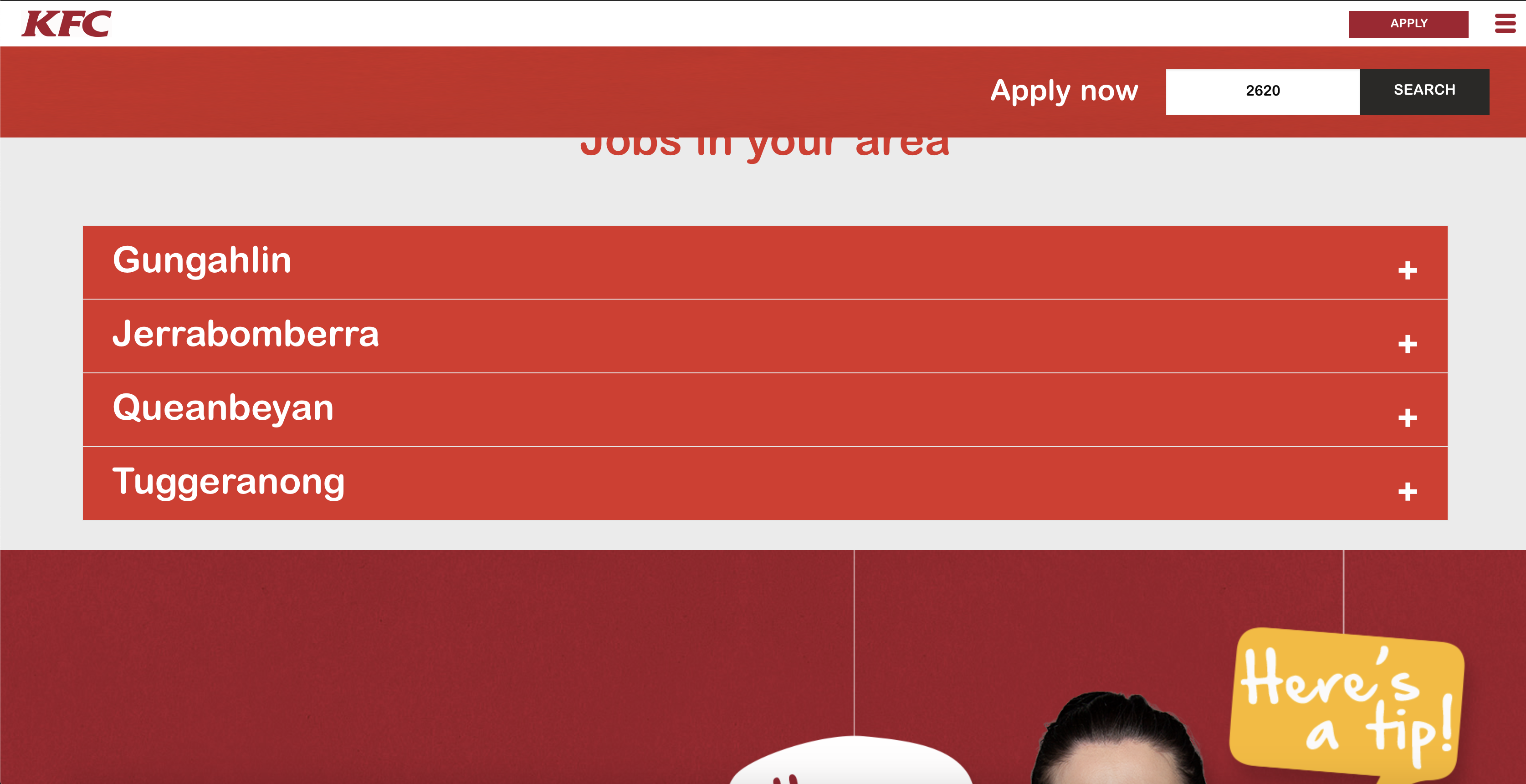 kfc australia job application step 5