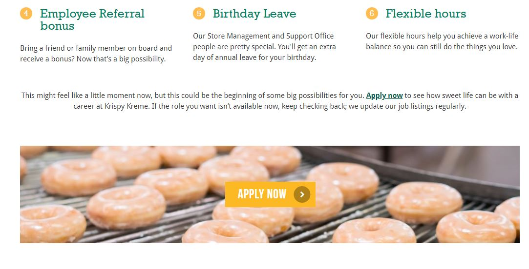 krispy kreme australia job application step 2