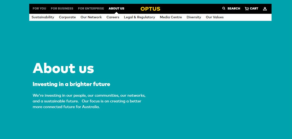 optus job application step 1