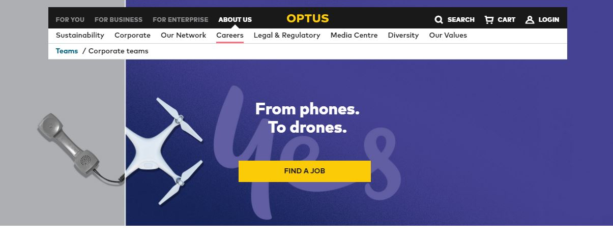 optus job application step 3