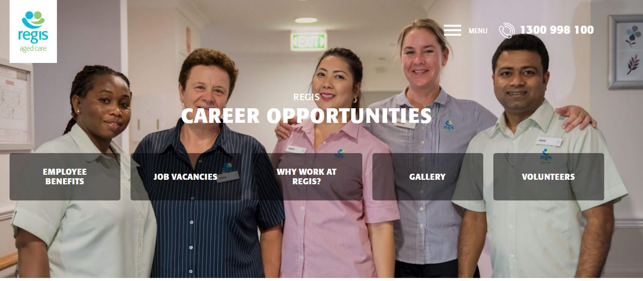 regis aged care job application step 2
