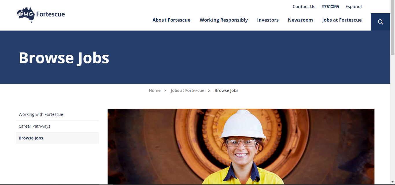 fortescue job application step 1