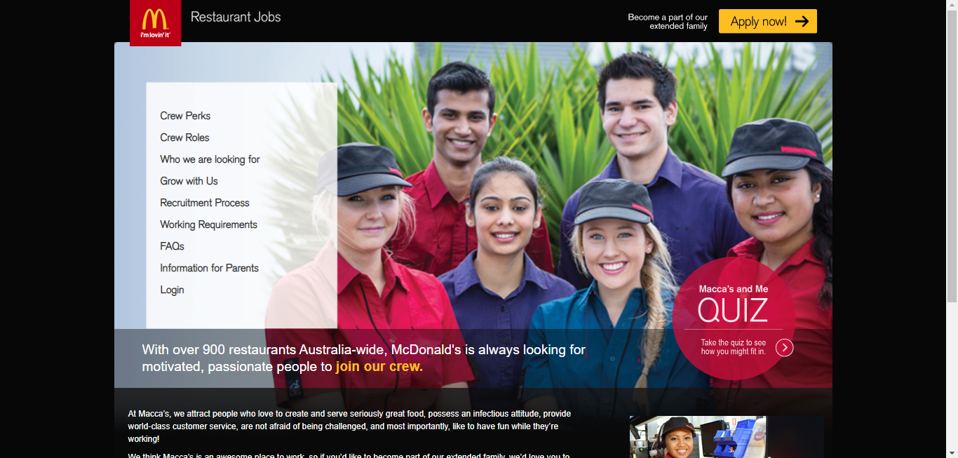 mcdonalds maccas job application step 2