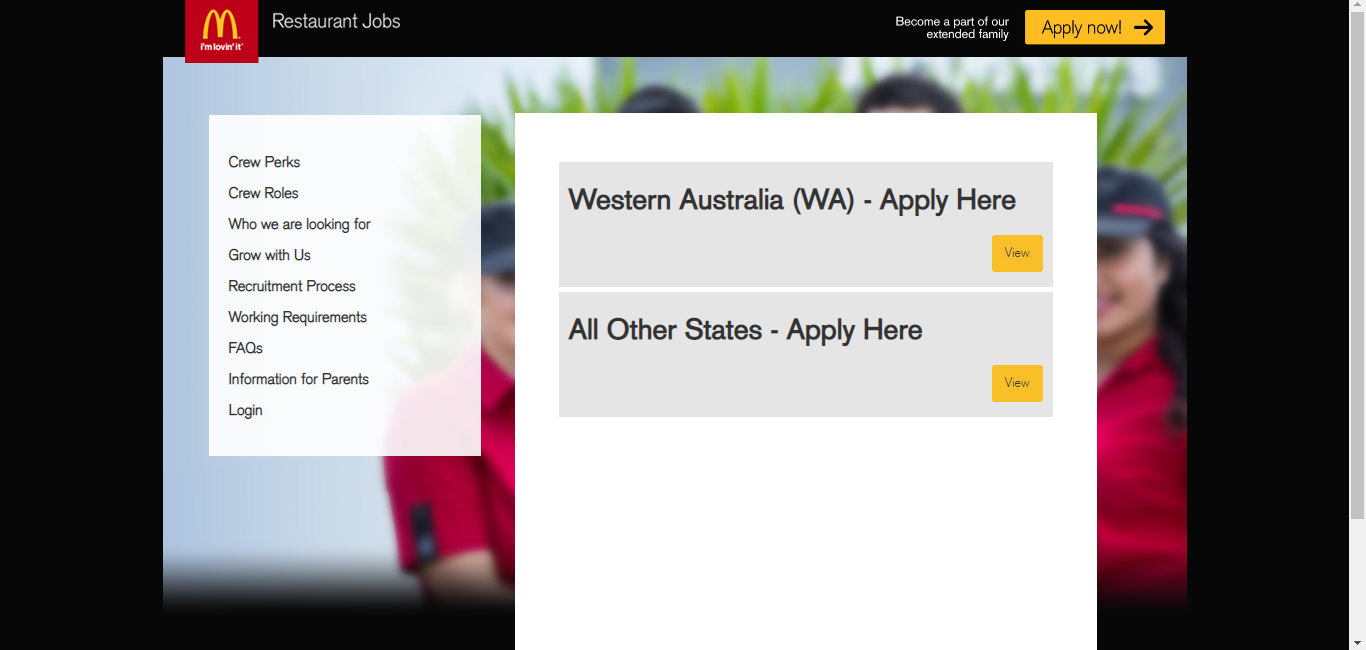 mcdonalds maccas job application step 3